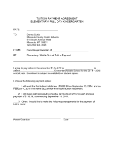tuition payment agreement - Missoula County Public Schools