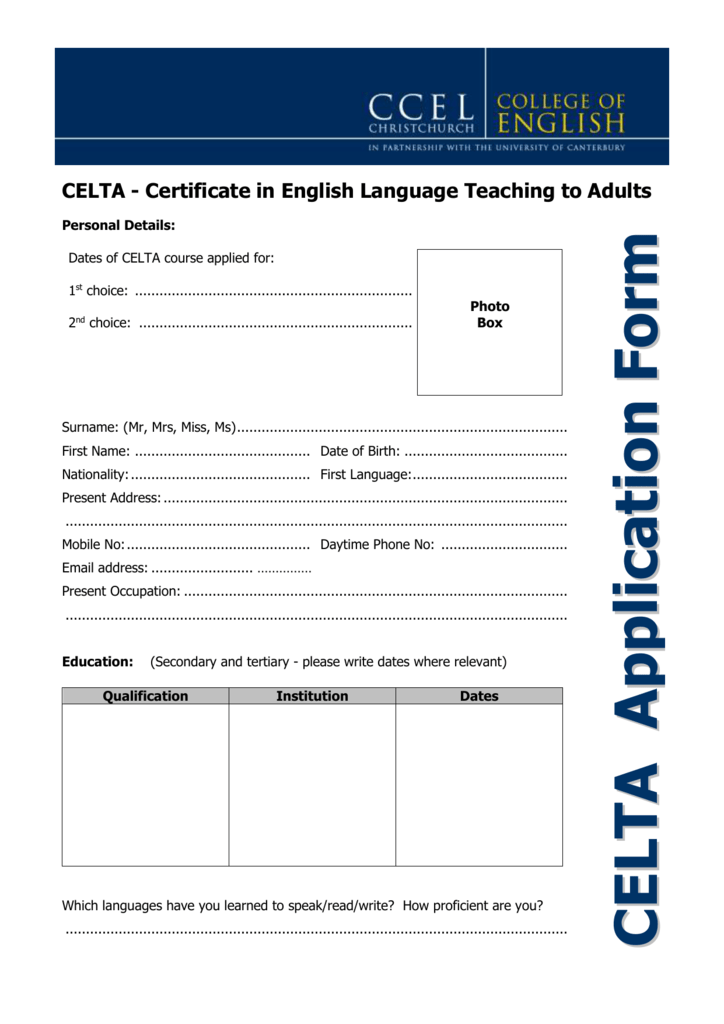 Delta Diploma In English Language Teaching To Adults