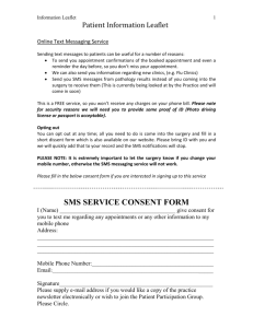 information leaflet with consent form