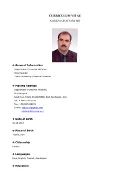 resume first name nemat last name bilan sex male marital status
