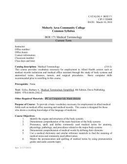 Common Syllabus - Moberly Area Community College