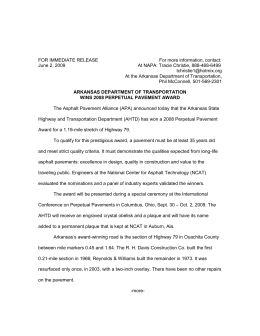 Arkansas Press Release - Asphalt Pavement Alliance
