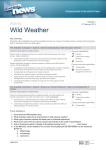 Activity Wild Weather Key Learning Students will investigate how