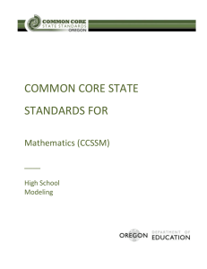 Common Core State Standards for Mathematics (CCSSM) ____