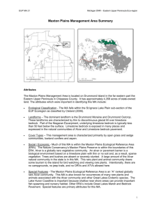 Mackinaw Lake Plain MA Brief - Michigan Department of Natural