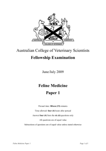 Feline Medicine - Australian College of Veterinary Scientists