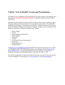 "Call for ""Arts & Health"" Events and Presentations"