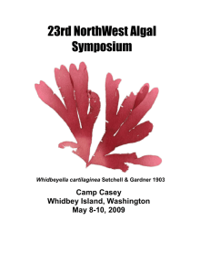 23rd NORTHWEST ALGAL SYMPOSIUM PROGRAM