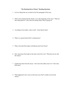 """The Rocking Horse Winner"" Reading Questions"