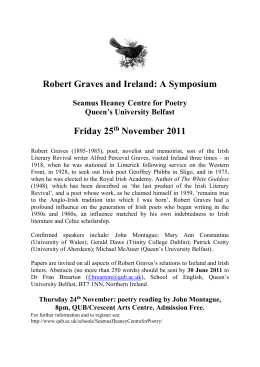 Robert Graves and Ireland: A Symposium