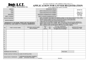 Litter Registration form