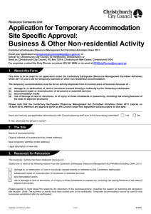 Business & Other Non-residential Activity