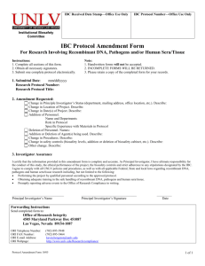 IBC Protocol Amendment Form