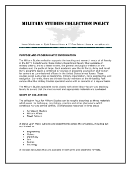Military Studies - University Libraries