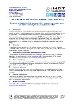 the european pressure equipment directive (ped)