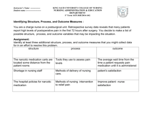 Identifying Structure, Process, and Outcome Measures