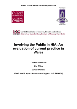 Introduction to the notion of public participation in HIA