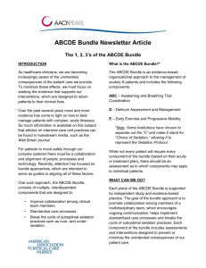 ABCDE Bundle Newsletter Article - American Association of Critical