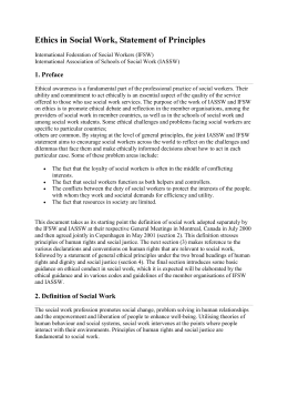 Ethics in Social Work, Statement of Principles