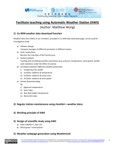 Facilitate teaching using Automatic Weather Station (AWS)