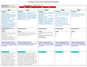 Common Core Lesson Planning Template