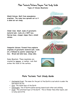 Volcano Test Study Guide