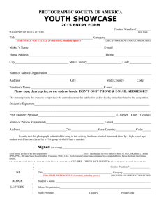 a print entry form (Word).