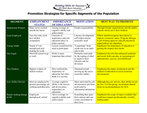 Promotion Strategies for Specific Segments of the Population