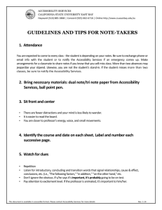 Guidelines and Tips for Note-Takers