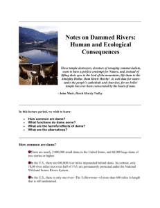 Global Change 15 - Notes on Dammed Rivers