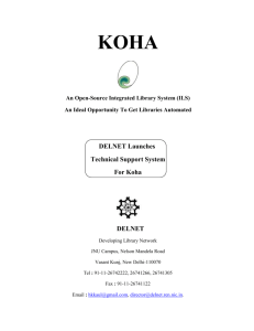 Koha Support for libraries