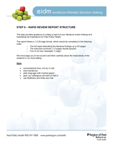 STEP 6 – LITERATURE REVIEW REPORT