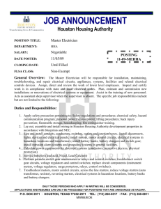 the housing authority of the city of houston position description