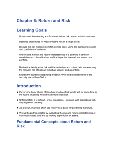 Chapter 6: Return and Risk