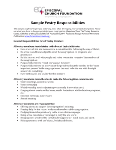 ECF`s Sample Vestry Responsibilities