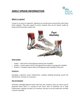 Ankle Sprain Advice - Elite Physical Medicine