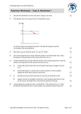 Extension worksheet - Cambridge Resources for the IB Diploma