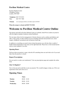Practice Leaflet> - Frome Valley Medical Centre