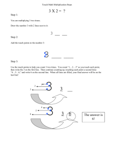 Touch Math Multiplication Steps