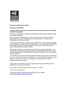 planning and biodiversity officer - advert