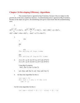 Chapter 24 Developing Efficient Algorithms