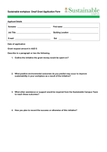Sustainability Grant Application Form