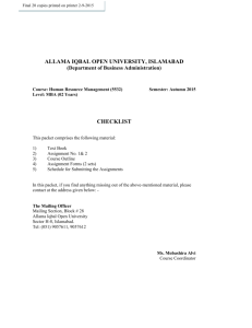 - Allama Iqbal Open University