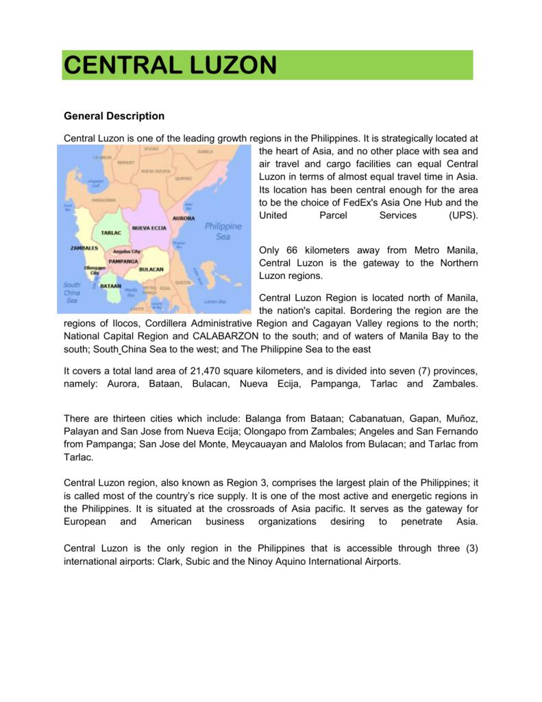 Central Luzon Sales Manual