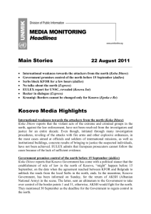 Kosovo Media Highlights