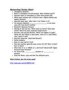 Meteorology Review Sheet: - Mounds View School Websites