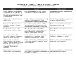 Doc Format - Students with Disabilities as Diverse Learners