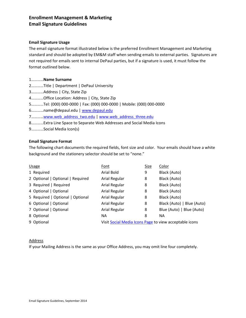 Email Signature - DePaul University Resources