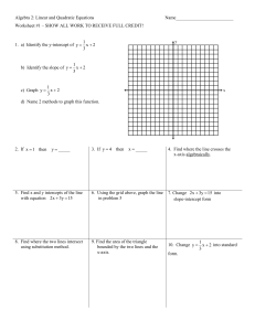 Geometry: Linear and Quadratic Equations