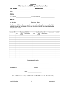 Pro4.0-6 Appendix C - PCR Reagent Lot Validation Form